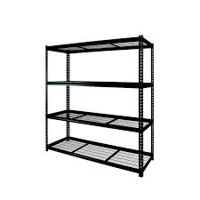Homebase Floating Shelves Magnificent Black Shelf Storage Incredible 32 Shelf Black Metal Shelving Unit At
