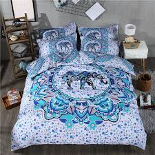 bohemian print bedding set exotic mandala elephant duvet cover set and pillowcase twin queen king size 2 3 special gift kid bedding bedding sheets from