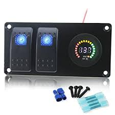 <b>Rocker Switches</b> IZTOSS Waterproof DC 12V 24V <b>Aluminum</b> Panel ...