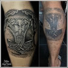 молот тора коррекция старой татуировки Hammer Torus Correction Of