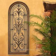 french tuscan italian arched window mediterranean wall grille panel 4 ft tall
