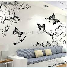 butterfly vine flower wall art mural stickers decals wall paster house decorative stic home decor wall on house wall art with butterfly vine flower wall art mural stickers decals wall paster