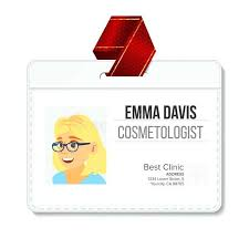 doctor id card template awesome blank employee id badge template cal name