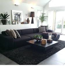black couch dark sofa living room black couch ideas with color small flat modern rustic red