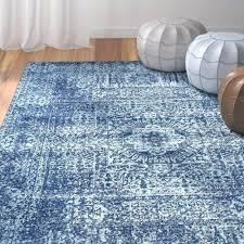 elegant navy blue area rug 5x8