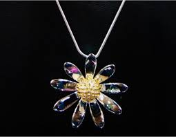 charms uk charms uk silver gp large daisy pendant and chain