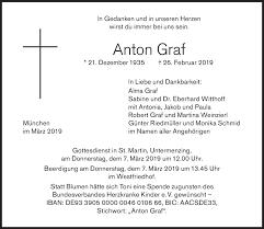 Anzeige von Anton Graf   SZ-Gedenken.de
