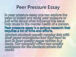 on peer pressure essay on peer pressure