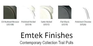 Emtek Finishes Finishes Contemporary Trail Cc Appliance Pull