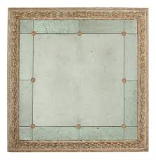 48 inch mirror. French Country Antique Gold Bilzen 48 Inch Square Rosette Mirror | Kathy Kuo Home