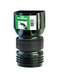 flex drain downspout adapter corrugated 3 x 4 pvc