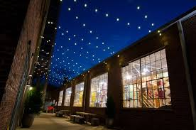 another look at how festoon lighting enlivens this commercial space