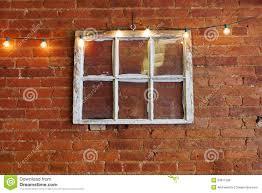 Exterior Wall Accent Lighting Vintage Six Pane Window Stock Photo Image Of Indoor 53811508