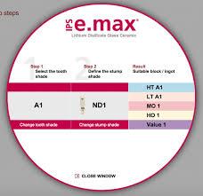 Selecting The Correct E Max Block Color
