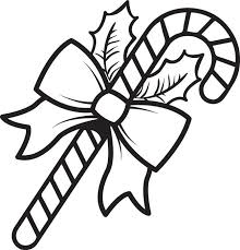 candy canes to color free printable cane coloring page for kids