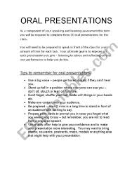 How To Do A Presentation Outline Oral Presentation Outline Esl Worksheet By Angelaalide