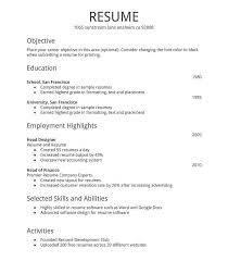 Resume Free Template Resume Templates Basic Sample Template Copy Paste Of Free Examples ...