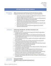 Esthetician Resume Examples 64 Images Examples Of Esthetician