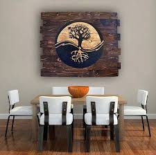yin yang tree of life on wood handmade wood wall art wooden distressed home decor rustic spiritual wall home decor wood sign on wooden yin yang wall art with yin yang tree of life on wood handmade wood wall art wooden