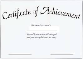 certificates of completion for kids certificate of accomplishment template image collections templates