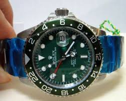 replica rolex gmt master ii stainless steel green face green bezel gmt master ii stainless steel green face mens watches th jpg