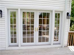 sliding glass door with sidelights french doors with sidelights and blinds between glasses
