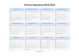 School Calendar 2015 16 Printable School Calendars 2015 2016 Calendar From August 2015 To