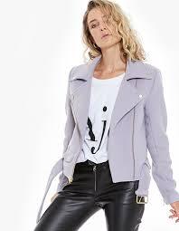 wool moto jacket lilac
