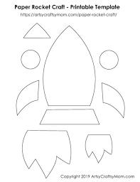 Free Craft Printables Templates Paper Rocket Craft For Kids Free Printable Template