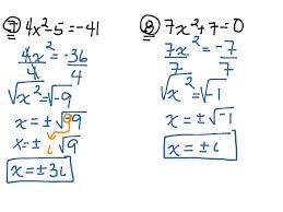 how to solve quadratic equations using square roots jennarocca