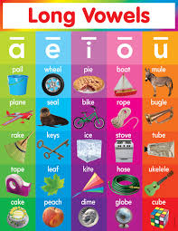 Scholastic Teachers Friend Long Vowels Chart Multiple Colors Tf2518