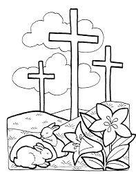 Easy Easter Coloring Pages Religious With Religious Easter Coloring