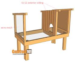 rabbit hutch plans step 4