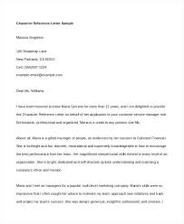 Sample Of A Character Reference Letter In For Immigration