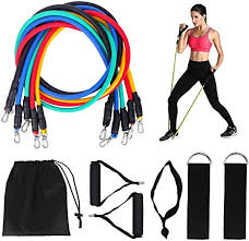 Tanness <b>11pc Resistance Bands Set</b> Workout Fitness <b>Set Yoga</b> ...