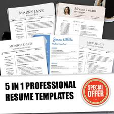 Resume Templates Bundle For Ms Word Professional Resume