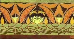 french art nouveau fl border design