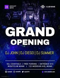 Free Sample Flyers Gorgeous Grand Opening Of Night Club Flyer Template Free Templates Restaurant