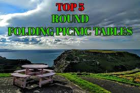 top 5 round picnic tables that fold and easily best backyard gear