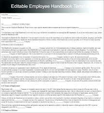 Employee Handbook Template Pdf Sample Uk – Gemalog