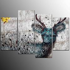 ethnic animal katy jade dobson art stag oil katy deer painting modern jade  dobson art stag
