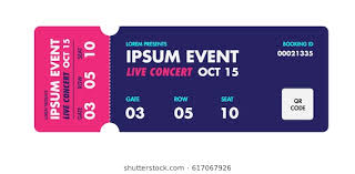 Free Concert Ticket Template Awesome Ticket Images Stock Photos Vectors Shutterstock