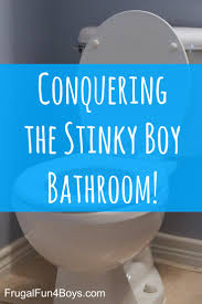 bathroom smells. conquering the stinky boy bathroom - ideas for dealing with lingering pee smell! smells r