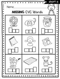 Our phonics worksheets offer the beginning stage of making the connection by identifying the first letter. Cvc Worksheets Dollar Deal Short Vowels Kindergarten First Grade Phonics