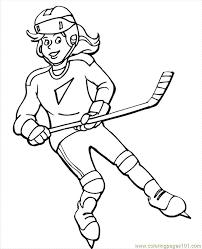 Girls In Sports Coloring Pages Hokkij Sport Kleurplaten Och Spel