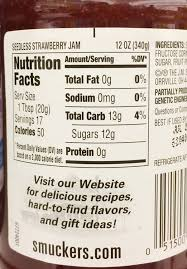 you can see it has about 12 grams of sugar for 1 tablespoon of jam visualize just over 2 teaspoons of sugar and you get an idea of how much is in