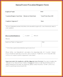 Employee Leave Request Form Template Vacation – Rigaud