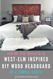 i am so excited to share this diy wood headboard with you all seriously when i find a beautiful piece of furniture that i can make for a tenth of the