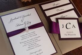 Pocket Wedding Invitations With Ribbon