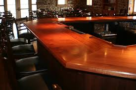 Custom Commercial wood bar tops by Grothouse